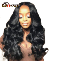 Gossip Glueless Lace Front Human Hair Wigs For Black Women Brazilian Body Wave Non Remy Wigs
