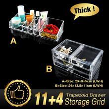 15 Grids 4 Layer Drawers jewelry Box Sundry Rack Organizer Storage Holder Make up Nail Art Cabinet Clear Acrylic Set EQC383 POK