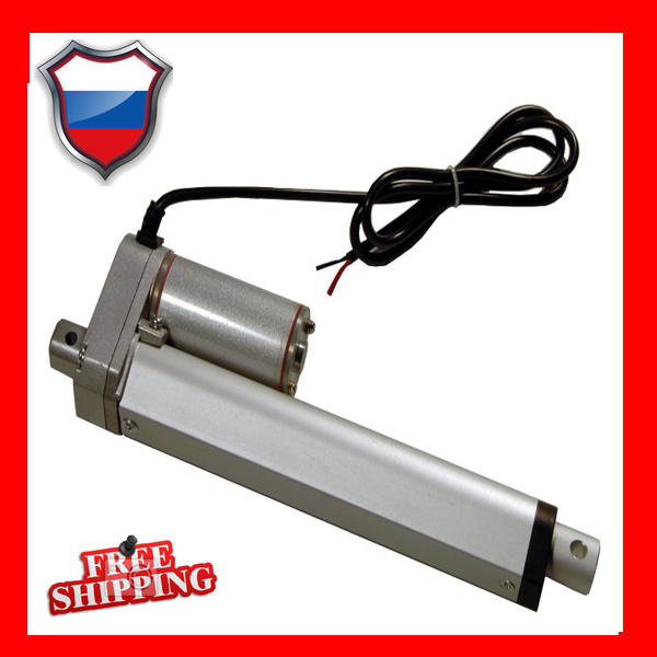 Free shipping 12V, 300mm / 12 inch travel, 1000N / 100KGS / 225LBS load electric linear actuator with mounting brackets free shipping dc 12v 5inch 125mm linear actuator 1000n 100kgs 225lbs thrust load line actuator with mounting brackets
