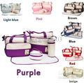 Envío gratis 7 colores 5 unids/set del pañal bolsa momia bolsas mujeres bolso Nappy Tote Shoulder Bag