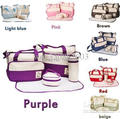 Free Shipping 7 Colors 5Pcs/Set Baby Diaper Bag Mummy bags Women Handbag Nappy Tote Shoulder Bag
