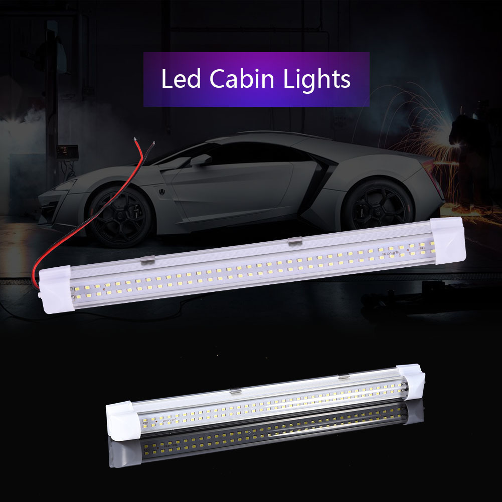 DC12V 72 LED Bar Lights Aluminium Car Light LED Rigid Strip 4.5w 500LM T5 LED Tube Lamp 34cm LED Hard Strip with ON/OFF Switch universal car auto caravan interior 72 led white light strip lamp on off switch