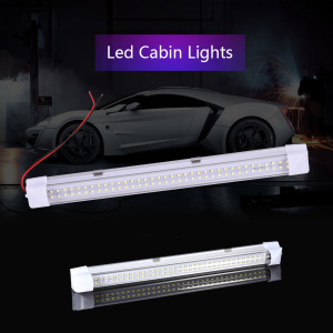 DC12V 72 LED Bar Lights Aluminium Car Light LED Rigid Strip 4.5w 500LM T5 LED Tube Lamp 34cm LED Hard Strip with ON/OFF Switch