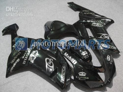 2 Gifts+black Corona ABS fairings for Kawasaki Ninja ZX6R 0708 Ninja ZX 6R 07 08 ZX6R 2007 ZX6 R 2008 KE06