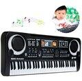 Nuevo 61 teclas digitales música teclado electrónico teclado regalo Piano eléctrico con micrófono regalo