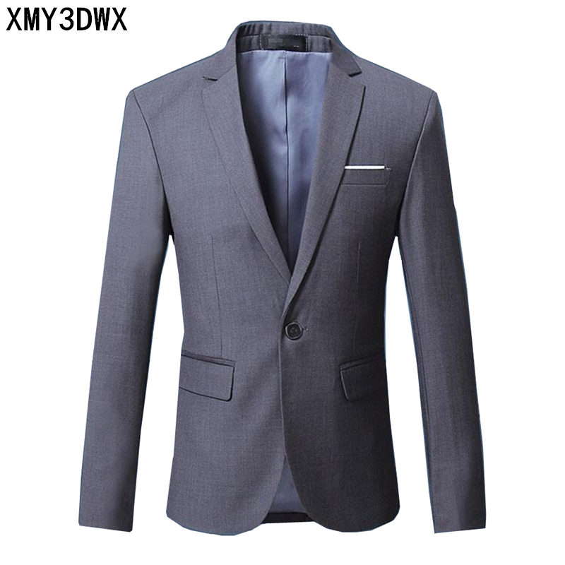 2018 Spring Solid Color Mens Classic Small Suit Solid Color Simple Joker Business Gentleman Fashion City High Quality Hot Suit