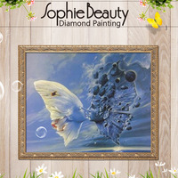 DIY 5D Diamond Painting Cross Stitch Diamond Embroidery Butterfly Diamond Mosaic Kits Tender Kisses Romantic Lover
