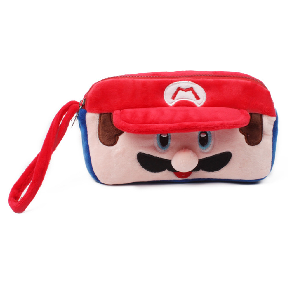 Super Mario Coin Purse Cute Cartoon Coin Purse for Phone Key Chain Hand Take Bag for Kids