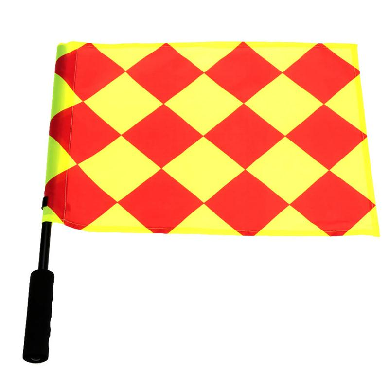 1Pcs Soccer Referee Flag Football Judge Sideline Fair Play Use Sports Match Football Linesman Flags Referee Equipment