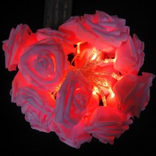 8 Color Night Light 20 x LED Novelty Rose Flower Fairy String Lights Wedding Garden Party Christmas Decoration Nightlight