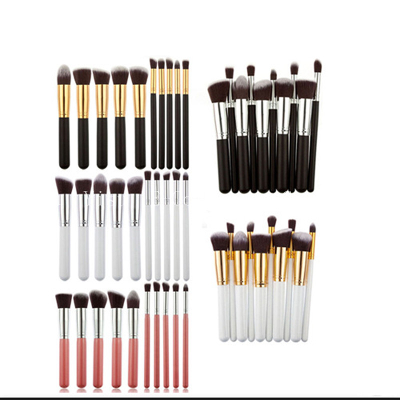 Professional 10pcs Women Makeup Brush 100Set Synthetic Foundation Powder Blush Eyeliner Brushes Cosmetic Makeup Brushes 7pcs makeup brushes professional fashion mermaid makeup brush synthetic hair eyebrow eyeliner blush cosmetic
