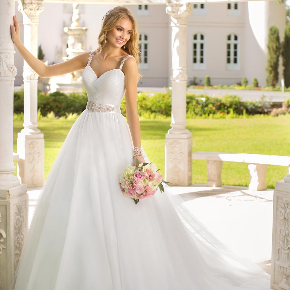 2015 princess ball gown wedding dress shoulder straps for Fitted ball gown wedding dress