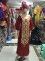 (Envío libre) Nuevo tradicional Africana rica mujer vestido bordado de algodón Bazin S2405