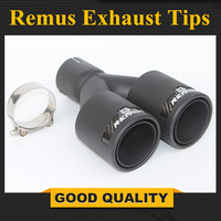 Top Quality 1PCS Inlet 63mm Outlet 89mm Remus Style Dry Exhaust Tip Universal Car Muffler Tips