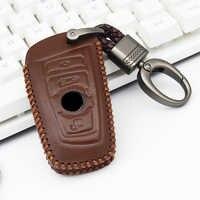 Car Key Protection Case For Bmw Series 5 F10 520 E90 E87 E83 E60 M5 F20 F11 F31 F15 F07 F34 F48 F25 G30 Leather Key Cover Ring