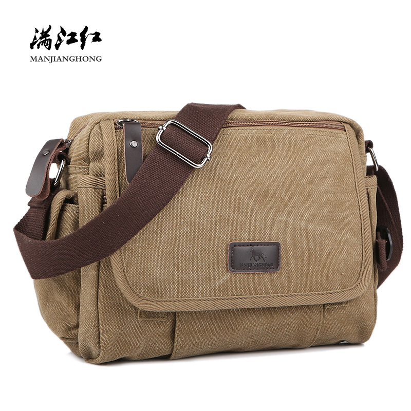Casual Canvas Men Small Shoulder Bag Satchel Vintage Retro Crossbody Sling Bag For Men Leisure Male Messenger Bags Handbag 1106 men s crossbody bags casual canvas bag leather satchel purse high quality vintage brand male small shoulder messenger bags
