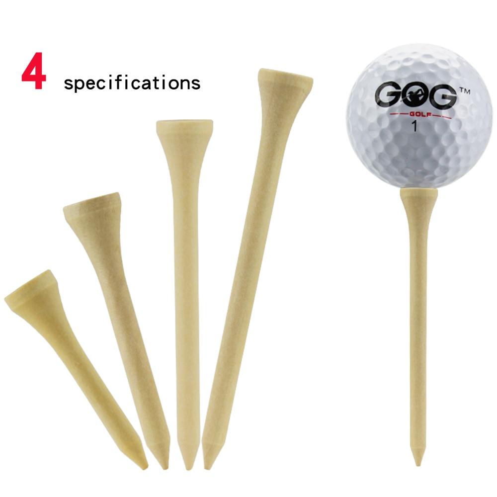 Golf Tees Package of 100 Bamboo Wooden Tees 42mm 54mm 70mm 83mm Length Golf Ball Holder Drop Ship