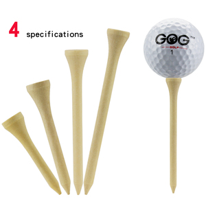Golf Tees Package of 100 Bamboo Wooden Tees 42mm 54mm 70mm 83mm Length Golf Ball Holder Drop Ship