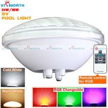 Par56 led бассейн светодиодные 12 В AC/DC 24 Вт 36 Вт подводный свет ip68 пруд огни rgb + пульт дистанционного управления теплый/холодный белый светодиодные фонари