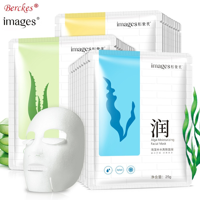 HOT Images Aloe Vera Cleansing Mask Moisturizing Refreshing Oil Control Moisturizing Snail Seaweed Mask