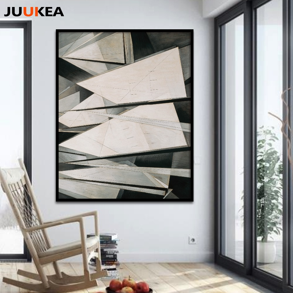 Charles Demuth Sails Black White Abstract Canvas Art Print Painting ...