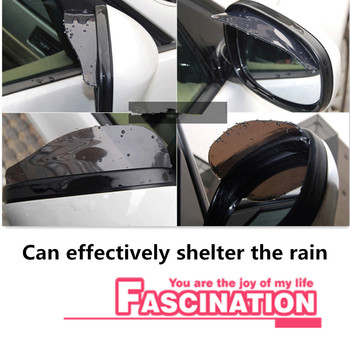 Car Accessories Rearview Mirror Rain Shade Rainproof for Kia Rio K2 K3 Ceed Sportage Sorento Cerato Armrest Soul Picanto Optima image