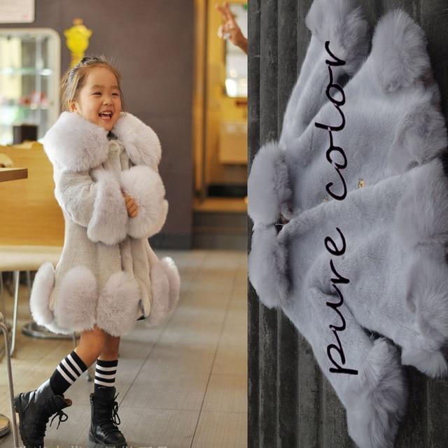 Super Automne Hiver Filles en fausse Fourrure manteau Enfants  ZC02