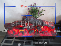 Simulation Charcoal Fake Firewood Decorative Ligh Charcoal Fire Flame Light Simulation Bonfire Resin Crafts Home Decorations 1PC