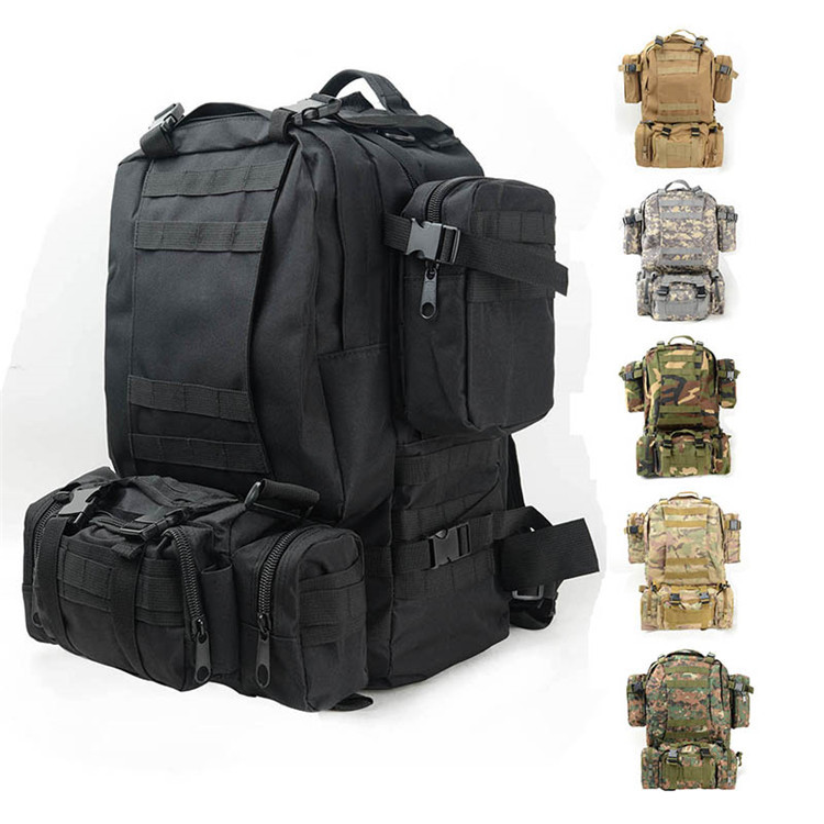 New Utility Outdoor Combination Backpack Camo Tactical Knapsack Military Back Pack Hiking Camping Climbing Cycling Shoulder Bag tactical outdoor one shoulder knapsack bag coyote tan 28l