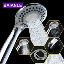 Three-Function ABS Chrome Finish Bathroom Shower Water Saving High Pressure Shower Head Round Shape Hand Shower Shower head недорого