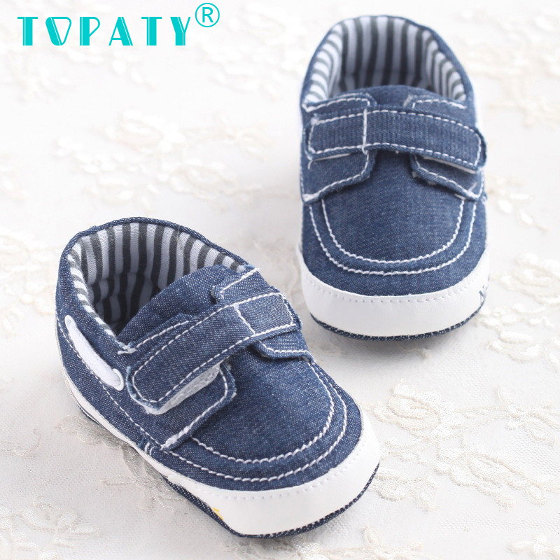 TOPATY Blue Canvas Shoes For 0-18M Baby Boy Toddler Shoes