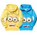 Alta qualidade despicable me 2 sequaz meninos t shirt crianças minions roupas crianças criança hoodies primavera outono Topos & T