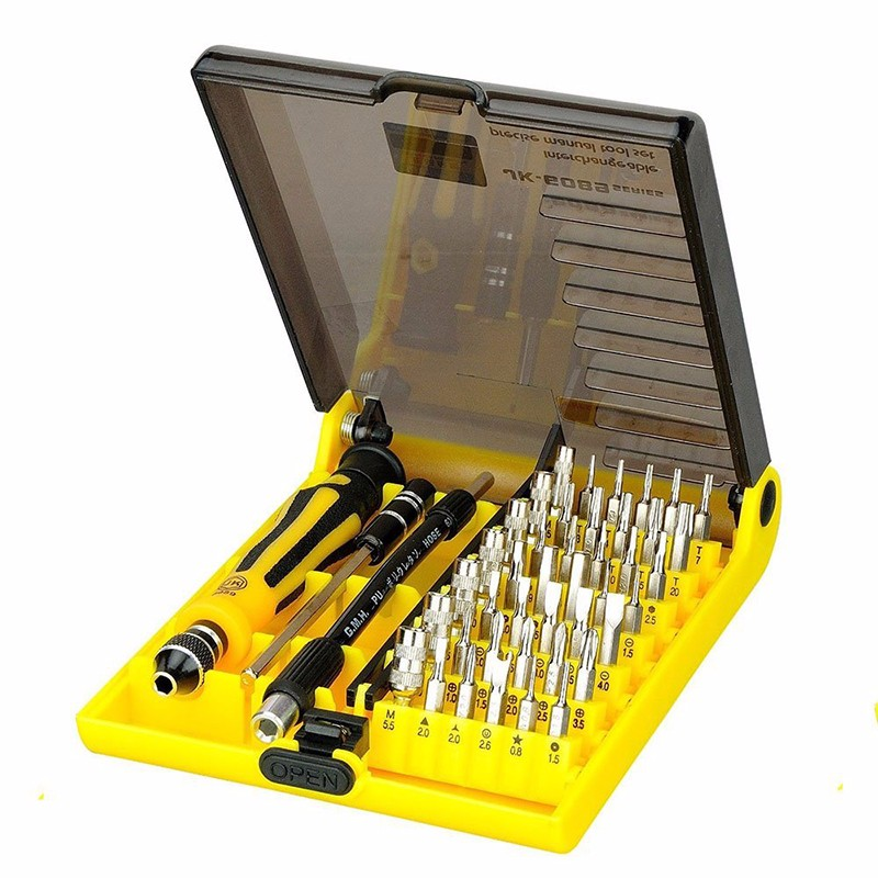 Precise 45 in 1 Screwdriver set Opening Tool with Extension shaft for Computer Clock Watch Electronics Laptop Repair Tool