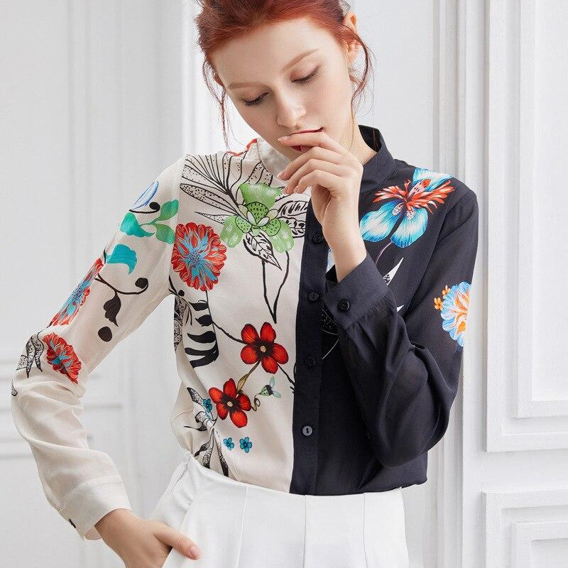PIXY imprimer femmes Blouses coréen mode vêtements à manches longues chemises dames hauts Harajuku à la mode bureau Blouse paresseux Oaf automne