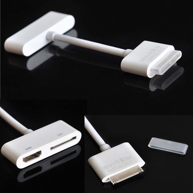 Digital AV HDMI Adapter to HDTV for Apple New iPad 2 3 iPhone 4S 4G iPod Touch