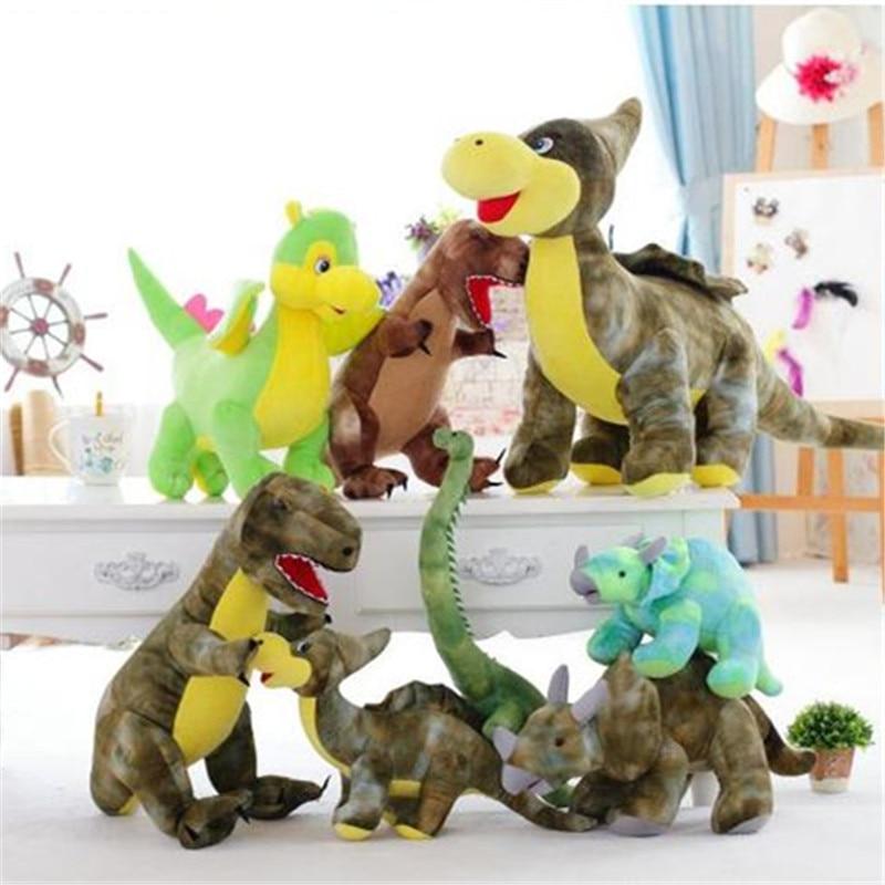 Cute Tyrannosaurus Rex Dragons Longnecked Dinosaur Triceratops Dinosaur Doll Plush Toy Kids Birthday Gift Girls&Boys Presents