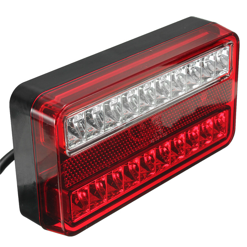 1Pair 20LED Car Rear Tail Lights 12V Truck Trailer Stop Brake Lamp Turn Signal Light in Car Light Assembly from Automobiles Motorcycles
