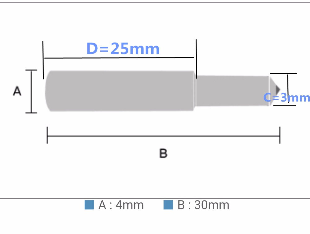 20pcs/lot 11mm dia 180mm length 90 degree engraving machine use metal engrave diamond tipped drag engraver bit  plywood
