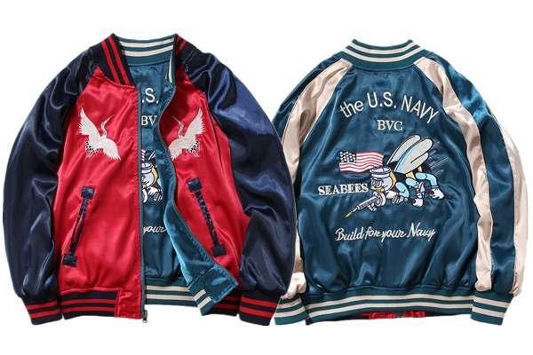 Fliegen Tiger Jacke Männer Harajuku Stickerei Herren Mäntel
