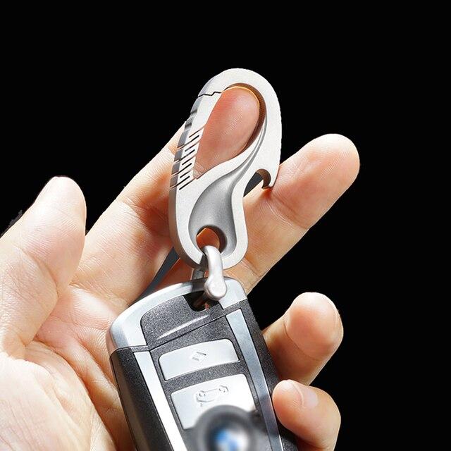 حقيقي التيتانيوم الفاخرة الرجال سيارة مفتاح سلسلة الإبداعية شكل تاي تشي سوبر التيتانيوم المفاتيح ل حلقات المفاتيح EDC أداة الآباء هدايا عيد