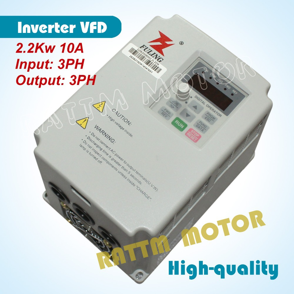 CNC speed control <font><b>2.2kw</b></font> 220V <font><b>inverter</b></font> Variable Frequency VFD 3HP Input 3HP Output for <font><b>Spindle</b></font> 10A 1000Hz image