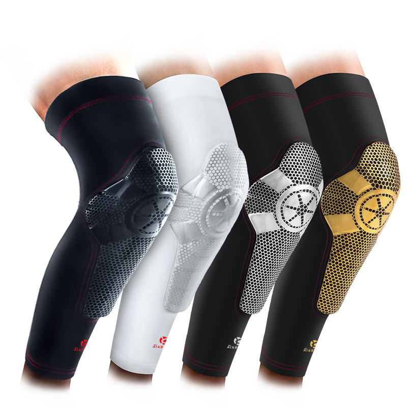 1bb7f06610 Kuangmi Crashproof Basketball Knee Pads Patella Protector Support Sports  Volleyball Leg Compression Sleeve 1 PC Adult