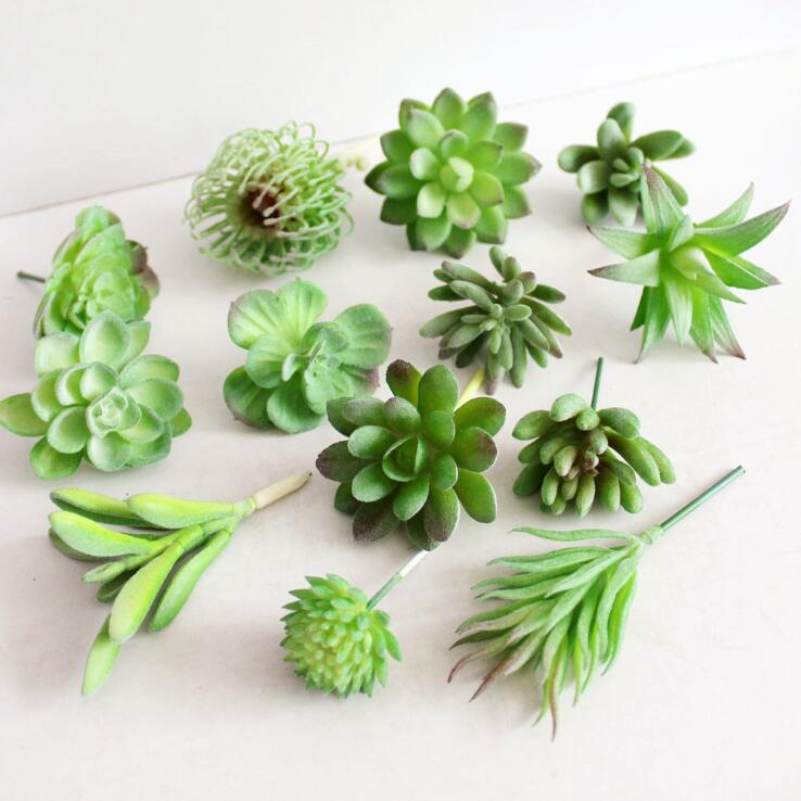 New Artificial Mini Succulent Plants Landscape Lotus Grass Decorative fake plastic Plant ...