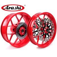 Arashi New CBR1000RR 2008 2016 Front Rear Wheel Rims For HONDA CBR1000 CBR 1000 RR 1 Set Front Rear Brake Disc Customized Color