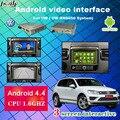 Android Окно Навигации Видео Интерфейс поддержка Youtube, Facebook для VW Tiguan, Sharan, Magotan