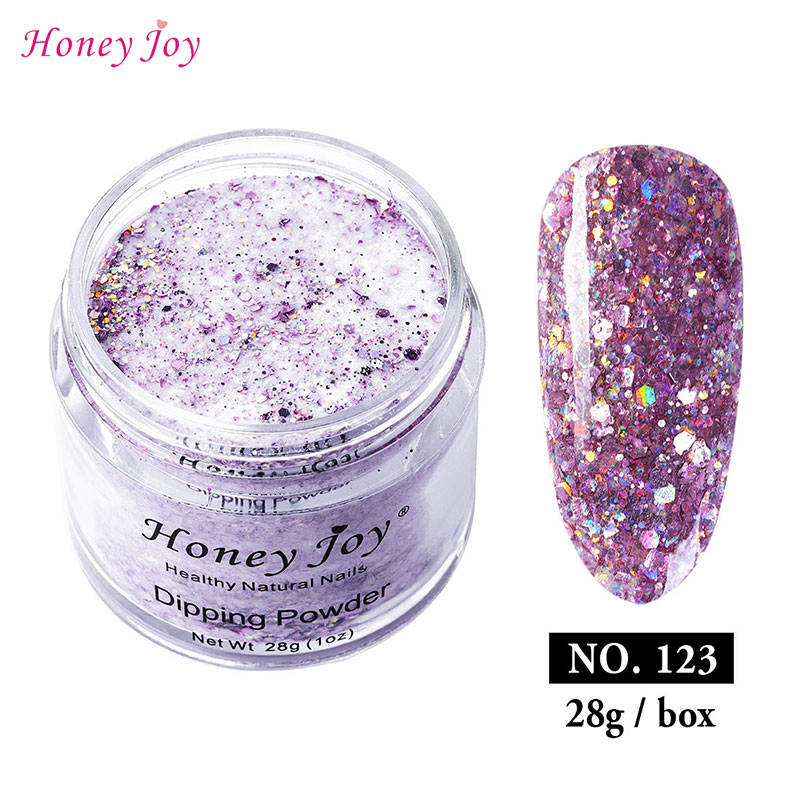 18g/28g/Box Pink Shine Glitter Hexagon Sequins Paillette Dip Powder Nails Dipping Nails Long-lasting Nails No UV Light Needed