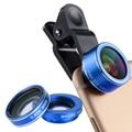 Orbmart 3 in 1 Mobile Phone Lens Fish Eye 198 degree Macro 15X 0.63X Wide Cellphone Lens