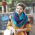 De alta calidad de las mujeres de moda bufanda de punto bufanda caliente bufanda de punto caliente del invierno de cuello