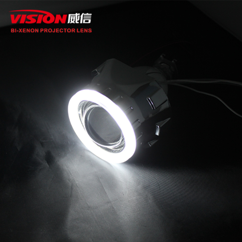 ФОТО Free Shipping IPHCAR Car/Motorcycle Styling LHD/RHD CCFL White Angel Eyes Halo HID 2.5 Bi-xenon Lens Projector Headlight