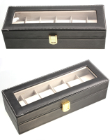 Hoge Kwaliteit Sieraden Display Box 6 Slots True Leather Case Display Storage case Watch box Sieraden SL